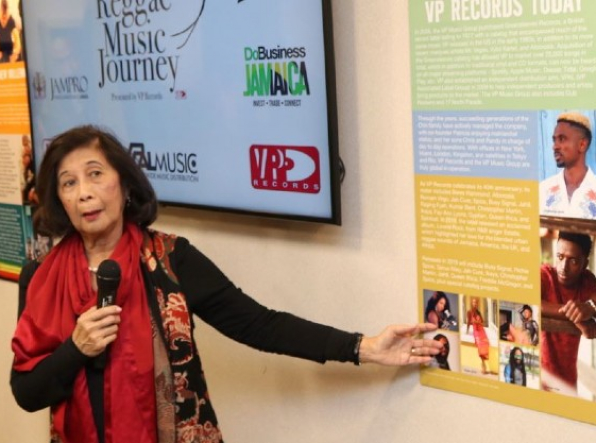 Co- Founder of VP Records Mrs Patricia Chin (Photo Credit Derrick Scott)
