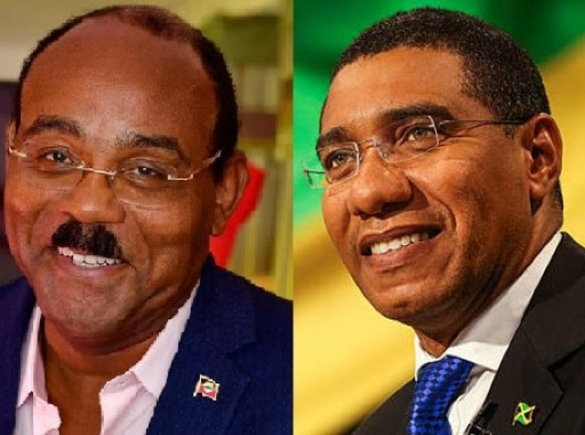Antigua and Barbuda Prime Minister Gaston Browne (left) and Prime Minister of Jamaica Andrew Holness (right) have been invited to the Summit.