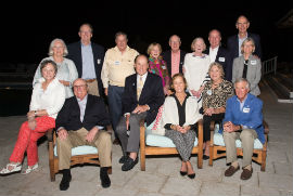 (Center) Ben and Louise Scott, Chairs of Boca Grande Hope For Haitians, with a group of committee members and friends at their 10th Annual Boca Grande Hope For Haitians cocktail and hors d'oeuvres reception at the Gasparilla Inn Beach Club in Boca Grande, Fla., on Feb. 5, 2019. Boca Grande Hope For Haitians is fundraising to build 50 additional homes in Savann Kabrit, Haiti, through Food For The Poor. (Photo/Photographic Images)