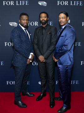 "Curtis ""50 Cent"" Jackson, Nicholas Pinnock and Isaac Wright Jr. at special NYC Screening and VIP Party at Lincoln Center's Alice Tully Hall Photo Credit: Courtesy of ABC"