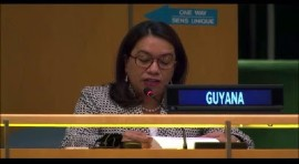 Carolyn Rodrigues-Birkett, Guyana's Permanent Representative to UN