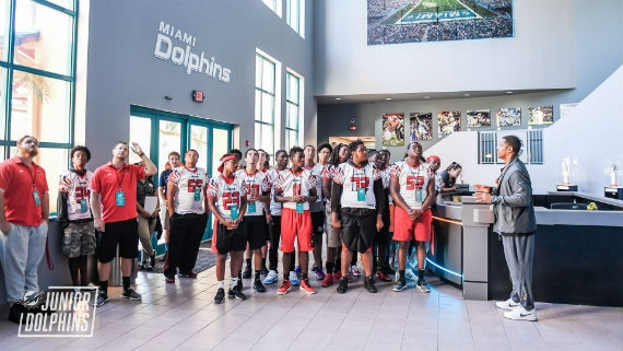 Monarch HS football team tours Baptist Health  University