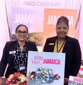 (L-R): The Jamaica Tourist Board's Victoria Harper, Business Development Manager – Northeast USA, participating in the Wedding Salon 2019 Luxury Bridal Showcase in Washington, DC alongside Barbara Blake, Travel Consultant of Island Breeze Vacations.