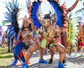 Online viewers will still get to enjoy the pageantry of the costumes and experience the sounds of steel pan music during carnival. PHOTO CREDIT: - Photograph by RJ Deed/miamicarnival.org