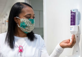 Face mask and sanitizing are ways to avoid infection.