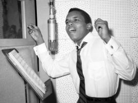 Singer Johnny Nash records in a New York City studio, circa 1958.  PoPsie Randolph/Michael Ochs Archives/Getty Images