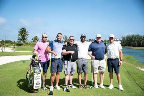 A Pro-Am group poses during the event